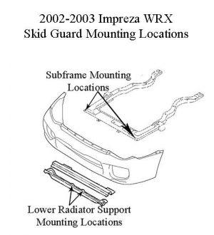 Rally Innovations 2002-2003 Subaru Impreza 2.5RS/WRX Rally Skid Guard