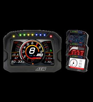 AEM CD-5LG Carbon Logging Digital Dash Display w/ Internal 10Hz GPS & Antenna