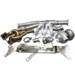 CX Racing 13B Turbo Engine Mount Manifold Downpipe Intake MF Kit For RX8 RX-8 Swap RX7 FD