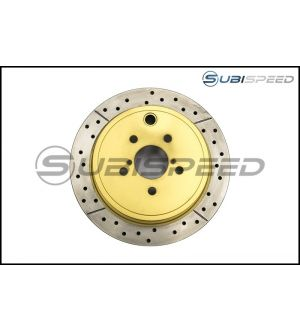 DBA Street Series Cross Drilled and Slotted Rear Rotors - 2013+ BRZ