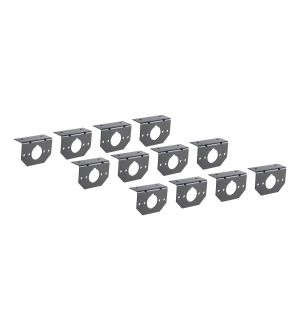 Curt Connector Mounting Brackets for 4-Way & 6-Way Round (12-Pack)