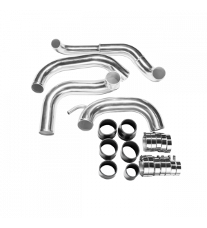 CX Racing Tube & Fin FMIC Intercooler Piping Kit For 89-99 Nissan 240SX S13 S14 with S13 SR20DET Swap