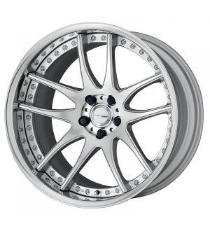Work Wheels Emotion CR 3P 21x10.5 +97  5x114.3  Semi Concave - Burning Silver (BS) - Reverse