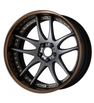 Work Wheels Emotion CR 3P 20x11.0 +161  5x114.3  Semi Concave - Matte Gunmetal with Gloss Bonze Barrel (MGM-GBZB) - Full Reverse
