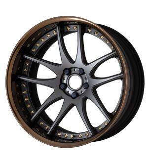 Work Wheels Emotion CR 3P 18x7.0 +60  5x114.3  Semi Concave - Matte Gunmetal with Gloss Bonze Barrel (MGM-GBZB) - Full Reverse
