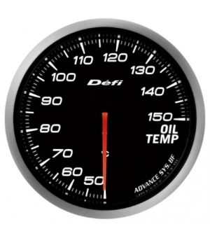 Defi ADVANCE BF 60mm Oil Temperature Gauge with White Lighting, 50-150 C