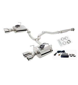 X-Force CAT-BACK SYSTEM STAINLESS STEEL 3″ HIGH FLOW CAT-BACK SYSTEM WITH VAREX REAR MUFFLERS (NEW LOUDER UPDATE)