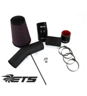 ETS Subaru WRX 08-14 Air Intake Kit - Stock MAF - Stainless Steel - Wrinkle Black