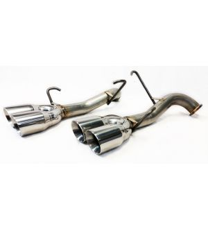 ETS Axle Back Exhaust System No Muffler Polished Tips