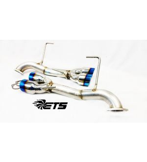 ETS Axle Back Exhaust System w/ Muffler Blue Tips