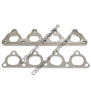 CX Racing Exhaust Manifold Steel flange + Gasket For Honda Civic D15 D16