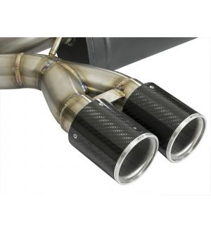 aFe MACH Force-Xp 2-1/2in SS Axle Back Exhaust System w/CF Tips 15+ BMW M3/M4 (F80/82) L6 3.0L (tt)