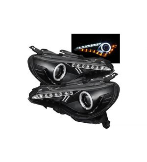 SPYDER XENON MODEL PROJECTOR HEADLIGHTS 2013-2020 FRS / BRZ / 86 - With Halo Light