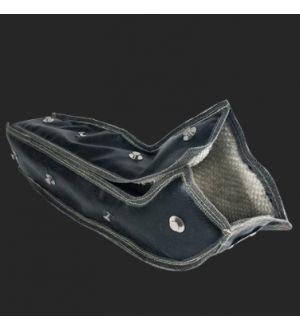 PTP Turbo Blankets (Designed to fit most 2002+ Subaru EJ20/EJ25 Turbo aftermarket downpipes)Subaru WRX SR-Glass™ Downpipe Blanket (Black)