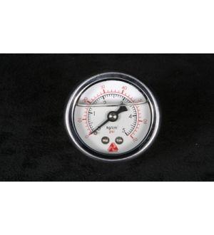 NRG Innovations Fuel Regulator Gauge (Carbon Fiber Finish) - 100psi