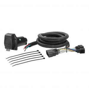 Curt 11-15 Ford Explorer Custom Wiring Harness (7-Way RV Blade Output)