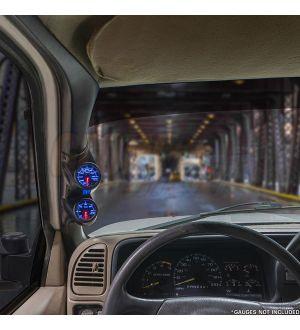 GlowShift Black Dual Pillar Gauge Pod for 2008-2014 Subaru Impreza WRX