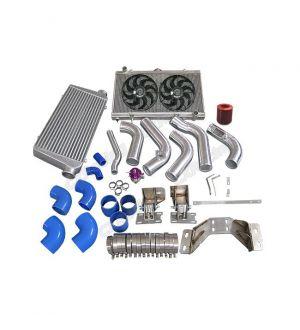 CX Racing Intercooler Piping Engine Transmission Mount Rad Fan Kit For 240SX S13 S14 2JZ-GTE 2JZGTE
