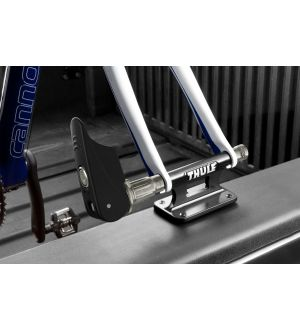 Thule Locking Low-Rider Fork-Mounted Block (Lock Included) - Black/Silver