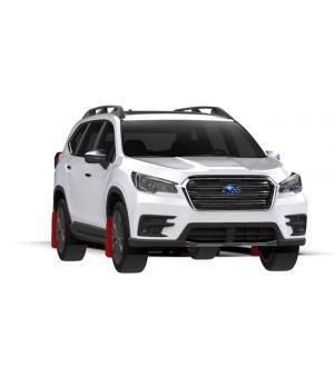 Rally Armor 18-19 Subaru Ascent UR Red Mud Flap w/ Black Logo