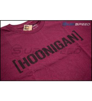 HOONIGAN Bracket Logo Short Sleeve Burgundy Tee