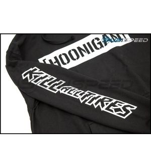HOONIGAN Censor Bar Kill All Tires Pullover Hoodie Black / White
