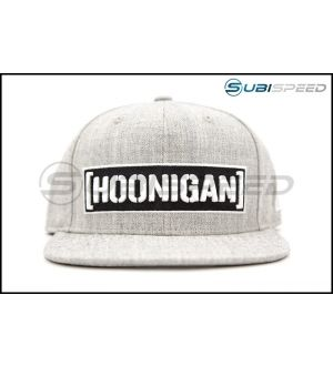 HOONIGAN Censor Bar Snapback Hat Grey / Black / White