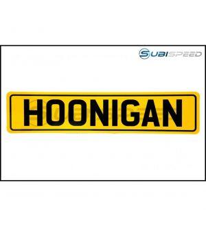 HOONIGAN EU Plate Sticker Yellow / Black 10