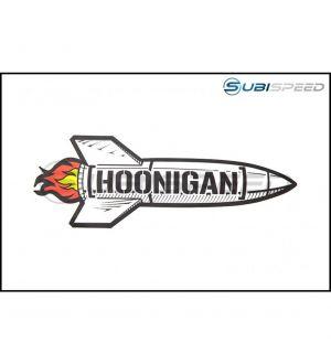 HOONIGAN Black Rocket Sticker