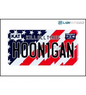 HOONIGAN Stars and Bars License Plate