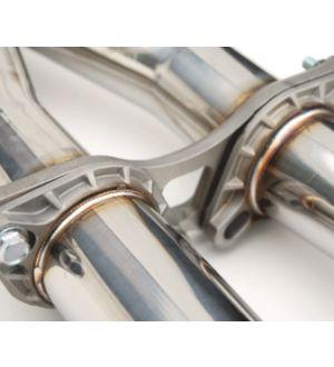 INVIDIA CAT-BACK EXHAUST, Q300 Single Layer Titanium Tip Cat-Back Exhaust Infiniti G35 4-DR 07-UP