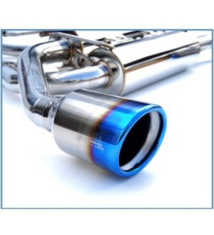 INVIDIA CAT-BACK EXHAUST, GEMINI Rolled Titanium Tip Cat-Back Exhaust Infiniti Q50 14-UP