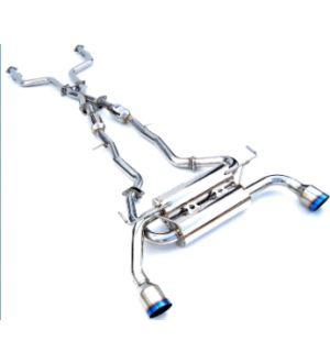 INVIDIA CAT-BACK EXHAUST, GEMINI Single Layer Titanium Tip Cat-Back Exhaust Infiniti Q50 14-UP