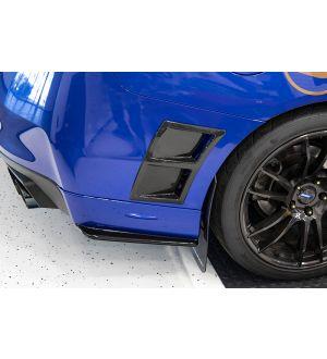 OLM PAINT MATCHED GLOSS BLACK REAR BUMPER LIP 2015-2020 Subaru WRX & STI - Galaxy Blue Pearl (E8H)