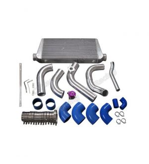 CX Racing Intercooler Piping Radiator HardPipe Kit For 2JZGTE 2JZ-GTE 2JZ Swap 240SX S13 S14 Single Turbo