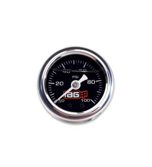IAG Performance 0-100 PSI Liquid Filled Fuel Pressure Gauge (Black Face)