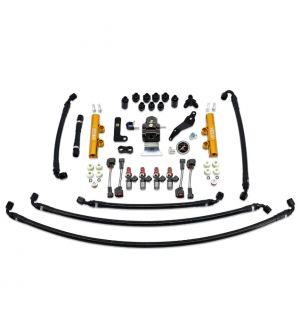 IAG PTFE Fuel System Kit w/ Injectors, Lines, FPR, Fuel Rails for 2008-14 WRX - 1050cc Injectors / Gold Rails