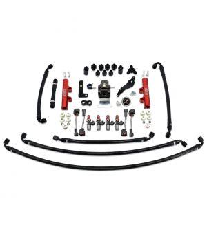 IAG PTFE Fuel System Kit w/ Injectors, Lines, FPR, Fuel Rails for 2008-14 WRX - 1700cc Injectors / Red Rails