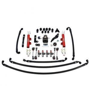 IAG PTFE Fuel System Kit w/ Injectors, Lines, FPR, Fuel Rails for 2008-14 WRX - 1300cc Injectors / Red Rails