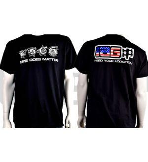 IAG Men's American Flag Size Does Matter T-Shirt Large