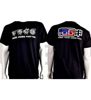 IAG Men's American Flag Size Does Matter T-Shirt X-Large