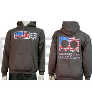 IAG Men's Making EJ's Great Again Hoodie (Charcoal) X-Large