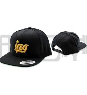 IAG Snapback Hat with Gold Script