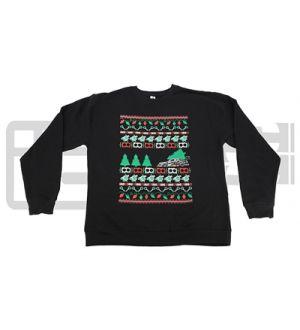 IAG MEN'S UGLY CHRISTMAS CREW NECK BLACK SWEATSHIRT