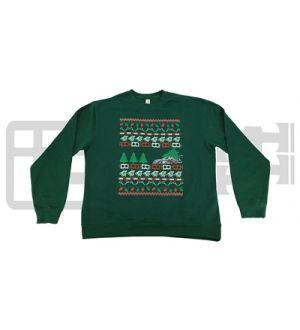 IAG MEN'S UGLY CHRISTMAS CREW NECK GREEN SWEATSHIRT