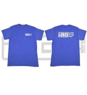 IAG MEN'S BOXER LOGO BLUE T-SHIRT