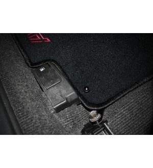 IAG DRIVER SIDE FLOOR MAT BRACKET FOR 2002-07 SUBARU WRX / STI (BLACK FINISH)