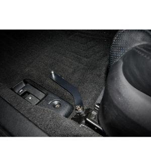 IAG Driver Side Floor Mat Bracket for 2005-09 Subaru Legacy (Black Finish)