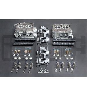 IAG STAGE 4 CNC PORTED HEADS W/ +1MM GSC VALVES & CAMSHAFTS FOR 02-05 WRX 2.0L S20