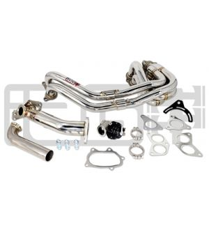 IAG 38MM EXTERNAL WASTEGATE UPPIPE KIT W/ UNEQUAL LENGTH HEADER FOR SUBARU WRX STI (TIAL WASTEGATE INCLUDED)